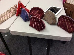 Bags made in a class at Ray's Sewing Center in San Jose, CA